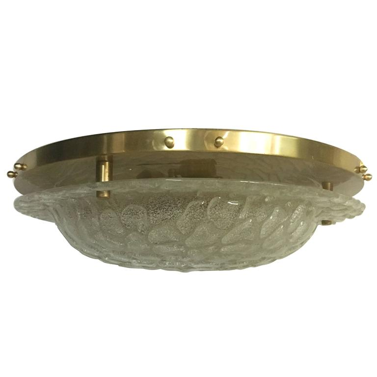 Molded Glass Light Fixture