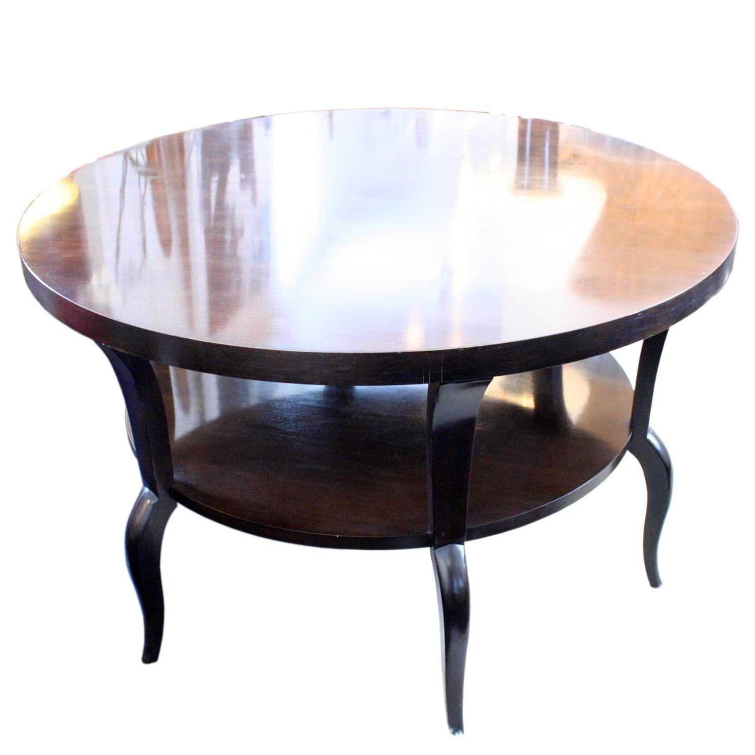 two tiered round mahogany dining table for sale at 1stdibs