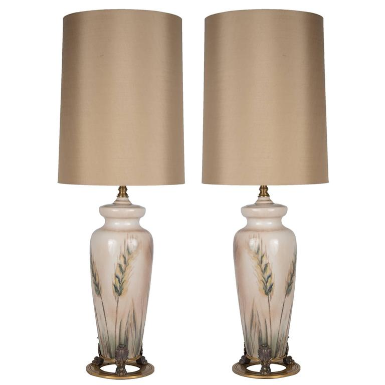 Pair of Rookwood Pottery Table Lamps