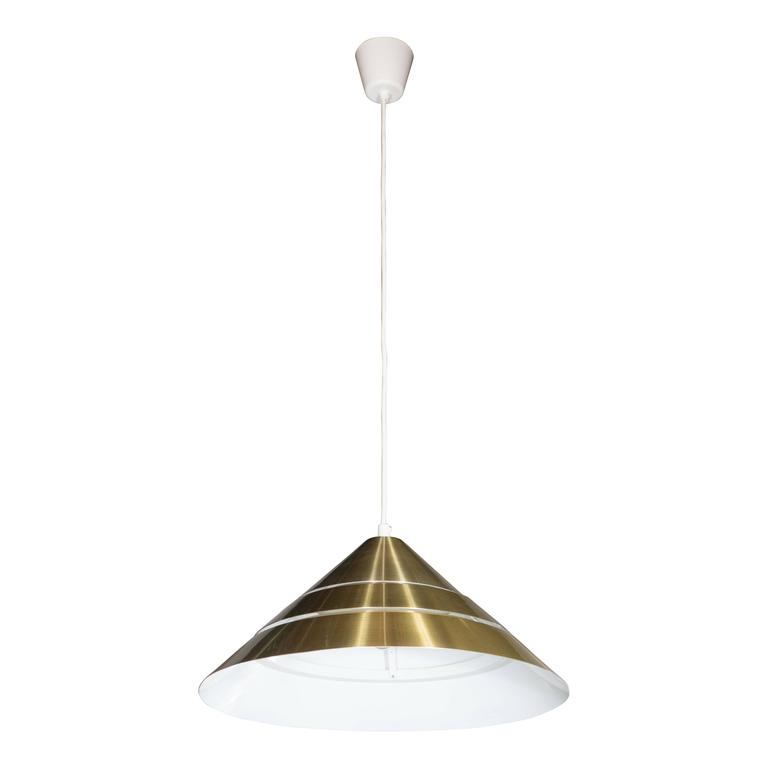 Mid-Century Brass Cone Ceiling Pendant by Hans-Agne Jakobsson