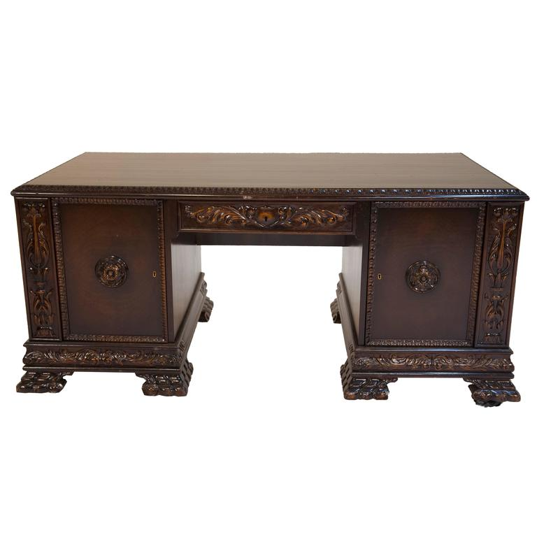 1920s Writing Desk with Lion Paws, Germany