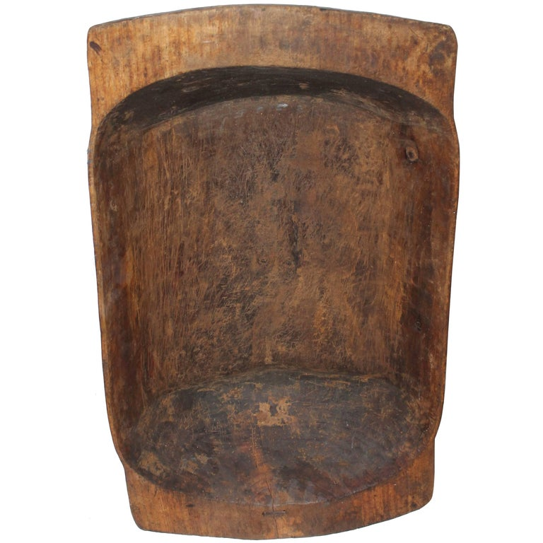 Monumental Early 19th Century Hand-Carved Dough Bowl