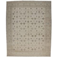Transitional Khotan Style Rug with Pomegranate Design in Muted Colors