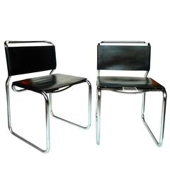 "Pair of Nicos Zographos ""66"" Chairs"