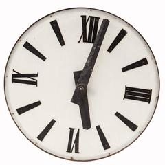 A French Large Size Clock Face From the Auvergne Region, Mid 20th Century