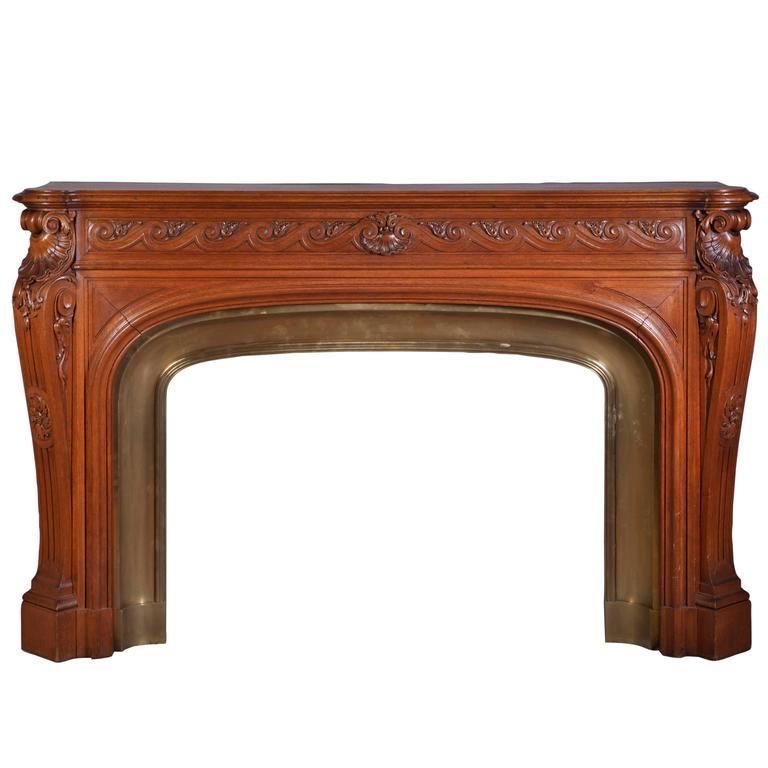 antique napoleon iii fireplace  carved oakwood for sale at antique fireplace mantels for sale antique fireplace mantels near me