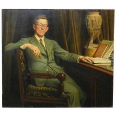 """Achille De Martelaere Dit Achille Bentos """"Portrait,"""" 1944"""