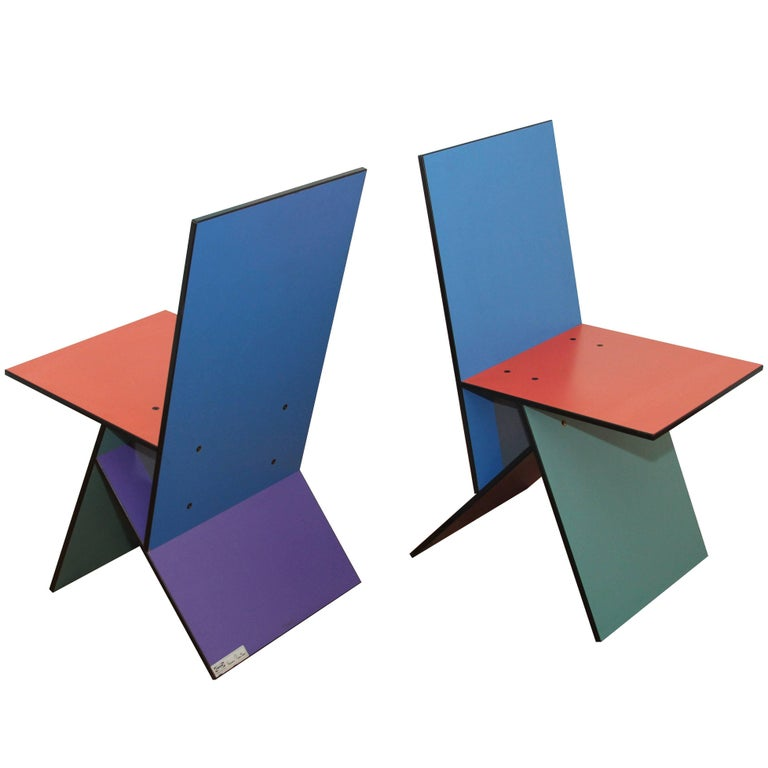 1993 Verner Panton Ikea Pair Of Vilbert Chair For Sale