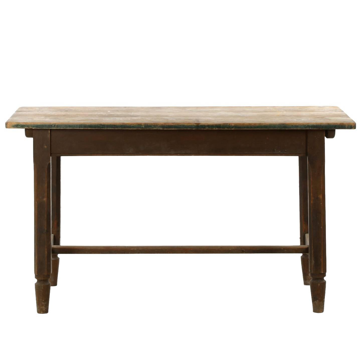English Scrubbed Pine Antique Work Farm Tavern Table, 19th Century For Sale  at 1stdibs - English Scrubbed Pine Antique Work Farm Tavern Table, 19th Century