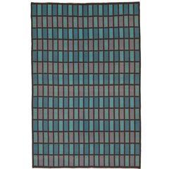 Mid-20th Century Double-Sided Swedish Flatweave Carpet