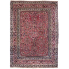 Antique Persian Khorassan Rug with Modern Victorian Style and Old World Vibes