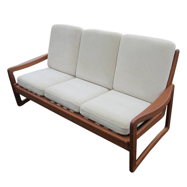 vintage danish teak sofa by juul kristiansen at 1stdibs