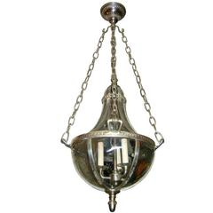 Large Set of Silver Plated Lanterns