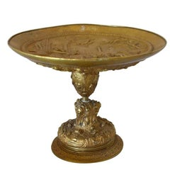 Antique Gilt Bronze Tazza