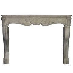 18th Century Original Antique Fireplace in Limestone