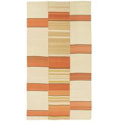 Mid-20th Century 'Linear' Vintage Kilim Composition Carpet