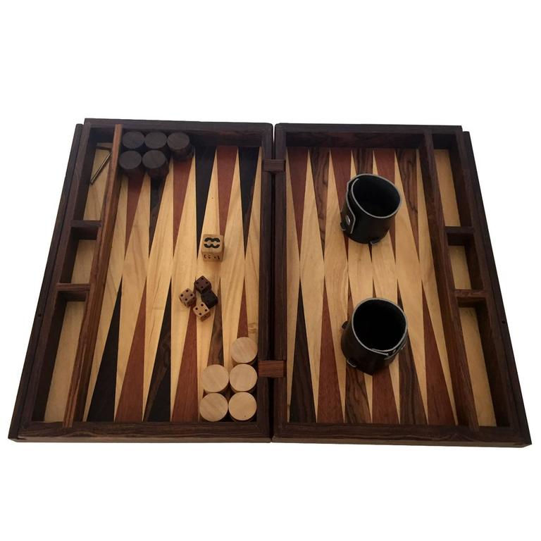 handmade backgammon game set by don shoemaker 1 - Backgammon Game