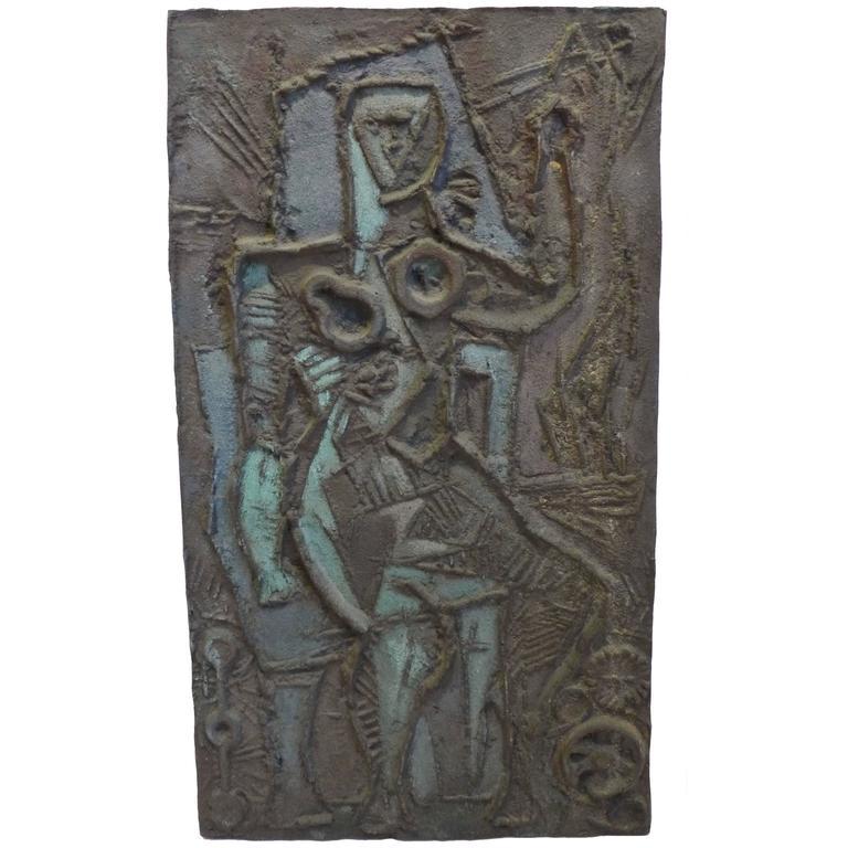 Abbott Pattison Abstract Bronze Plaque