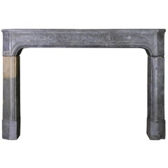 18th Century Country Bicolor Original Antique Fireplace Mantle