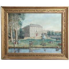19th Century Irish Oil on Canvas of Kilkenny Academy
