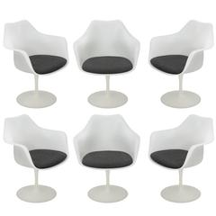 Set of Six Tulip Armchairs by Eero Saarinen for Knoll