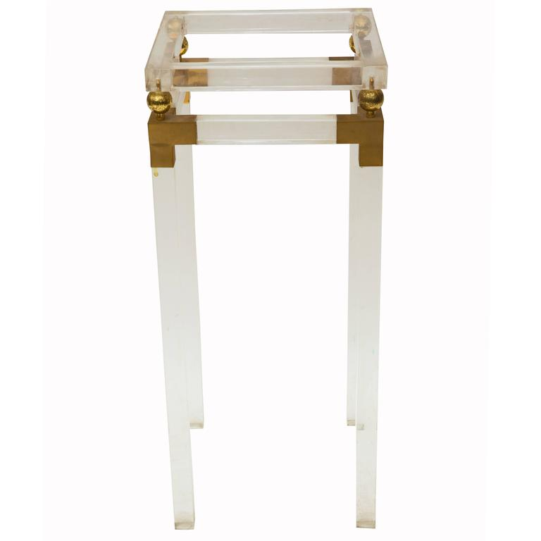 Lucite side table at 1stdibs for 12 x 12 end table