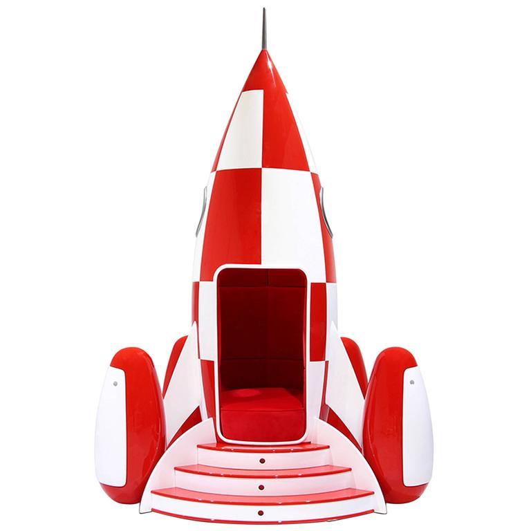 Fantastic Children Rocket Chair In Fiber Glass And Wood Alphanode Cool Chair Designs And Ideas Alphanodeonline