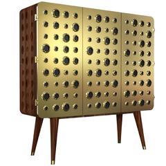 Golden Doors Cabinet Walnut Wood