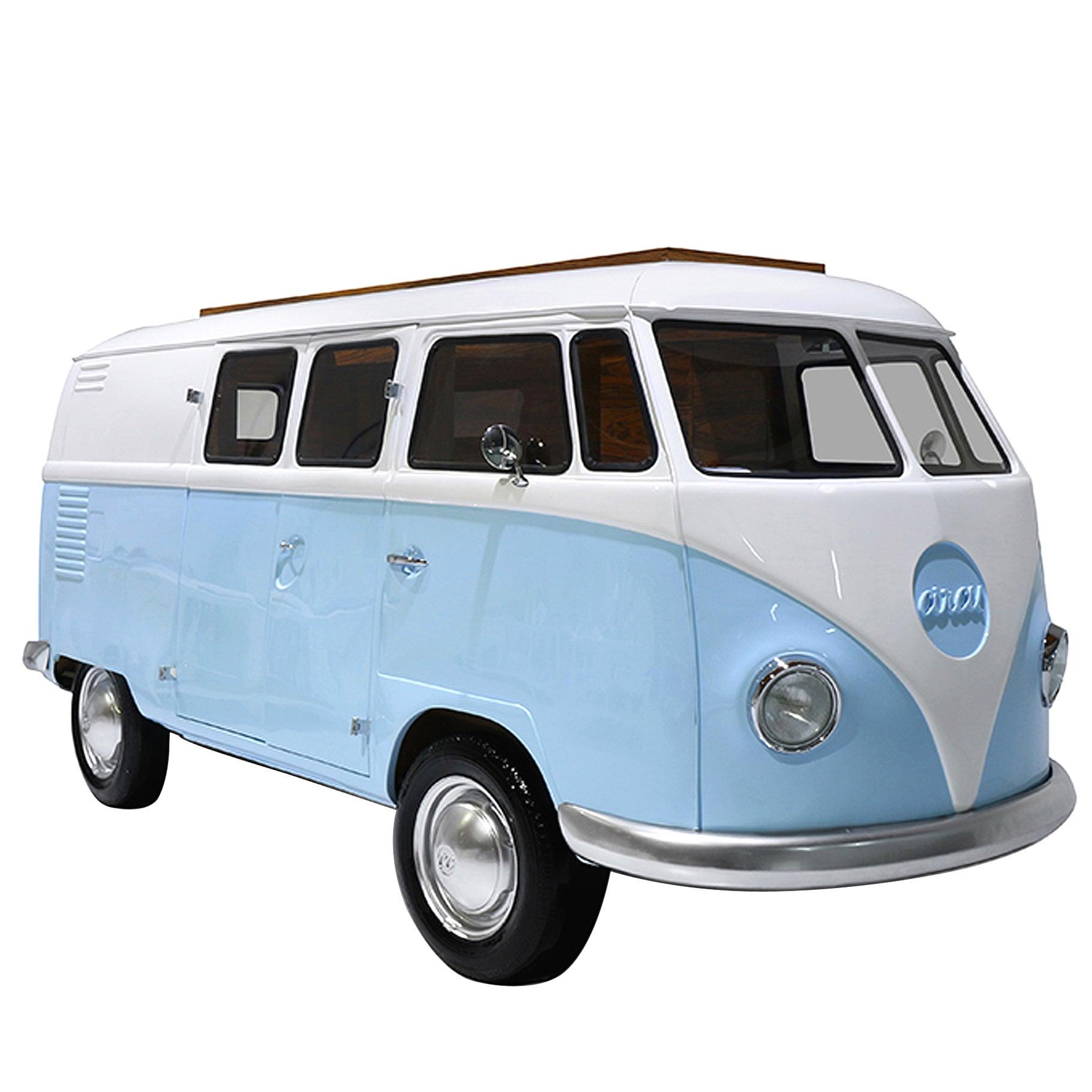 Wagen Bed in Fiberglass and Palisander Wood Veneer