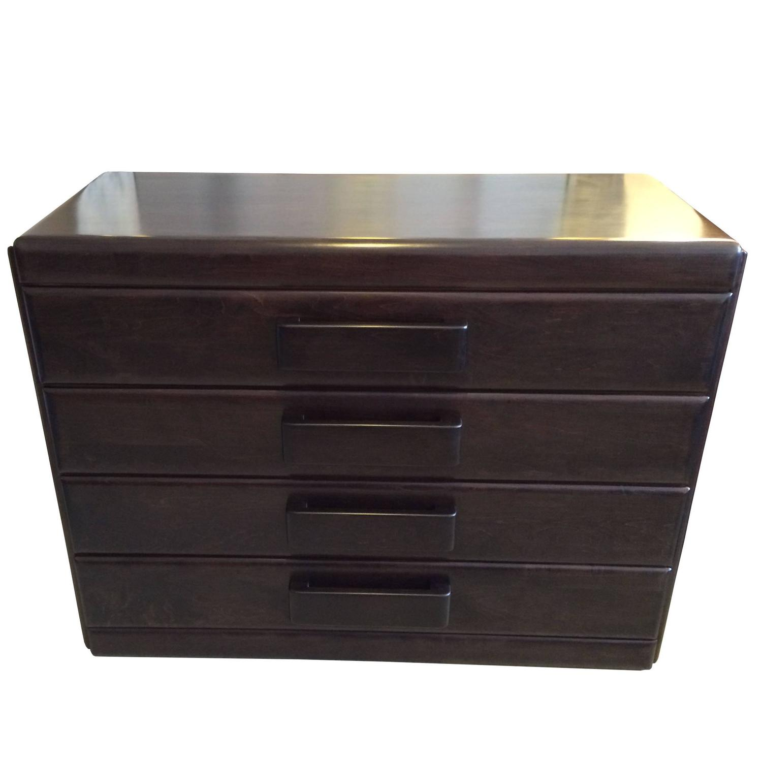 Ebonized Dresser With Mirror By Russel Wright For Conant