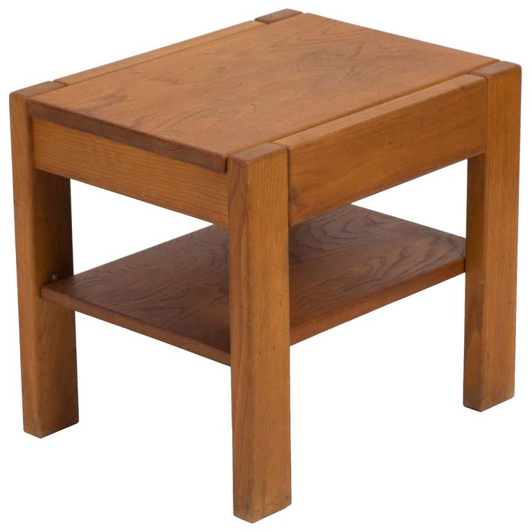 Wooden Side Table by Pierre Chapo 1