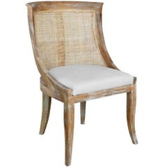 Oak and Cane Side Chair