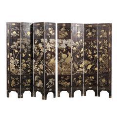 18th-19th Century Eight-Panel Coromandel Screen