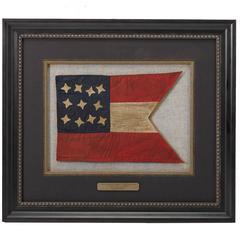 "Confederate States 11-Star ""Civil War Reunion"" Guidon Flag, circa 1865-1890"