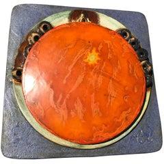 Antique BRILLIANT SUN BURST Master Work  hand painted &  hand glazed