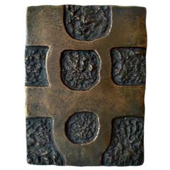 Bronze Push and Pull Art Door Handle with Abstract Motive