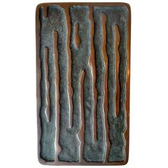 Bronze Push and Pull Art Door Handle Curved Lines