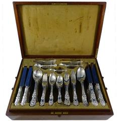English King by Tiffany Sterling Silver Flatware Set 12 Service Dinner & Lunch