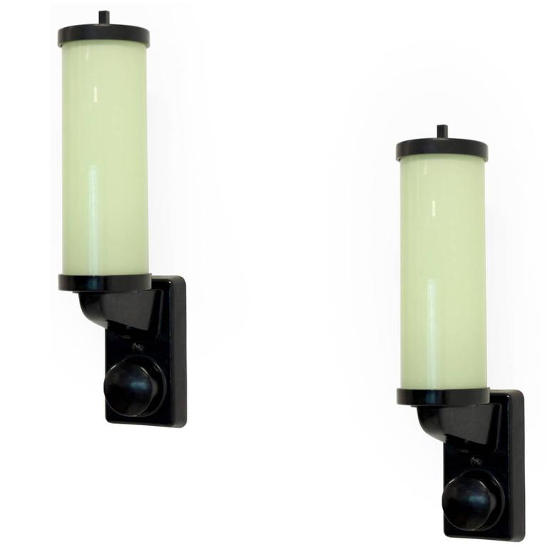 Pair of Functionalist Wall Lights, 1950s