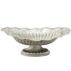 Sterling Silver Bon Bon Dish Antique Victorian