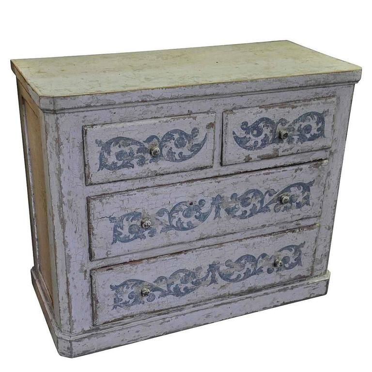 Spanish 19th Century Commode in Painted Wood For Sale