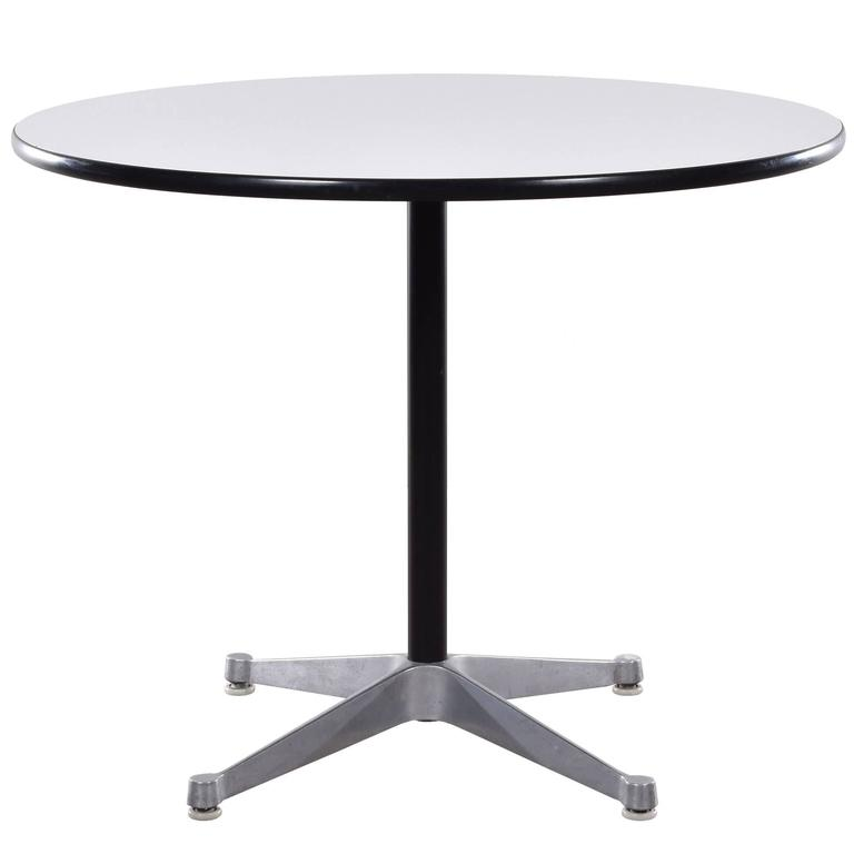eames small dining table with contract base for herman. Black Bedroom Furniture Sets. Home Design Ideas