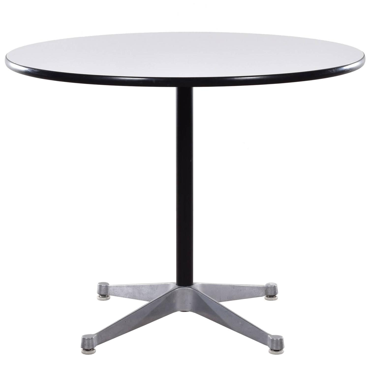 Eames small dining table with contract base for herman - Eames table herman miller ...
