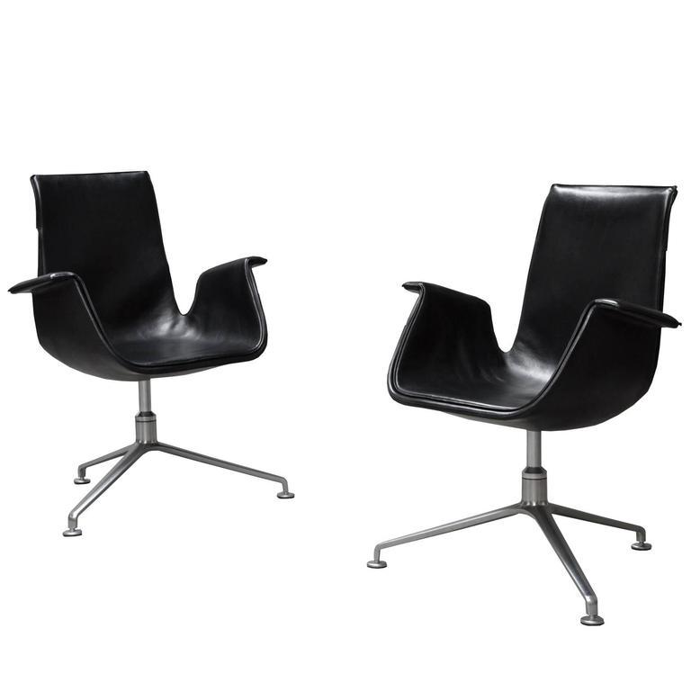 Preben Fabricius & Jørgen Kastholm Model 6727 Tulip Chairs