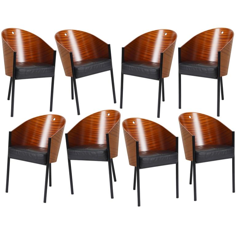 Set of eight costes barrel back chairs by philippe starck for driade aleph at 1stdibs for Philippe starck chair