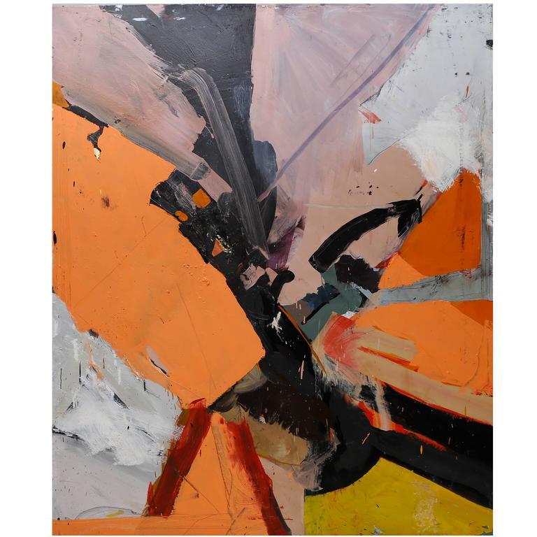 Ezra Cohen Oil on Canvas, Famous, USA, 2016 For Sale