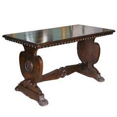 Tuscan Trestle Center Table , 19th Century