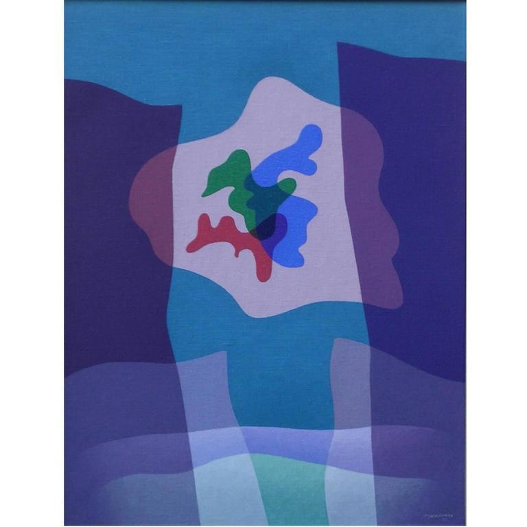 Raymond Jonson Abstract Oil on Canvas, 1941, Oil No. 2