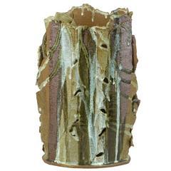Most Unusual Polychrome Sculptural Studio Pottery Vase