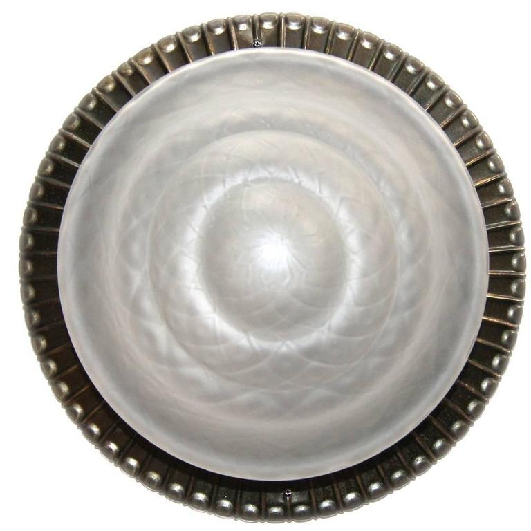 Molded Glass Flush Mount with Frosted Glass